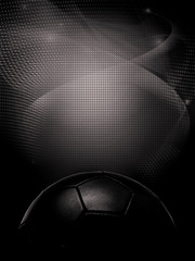 black digital background with soccer ball