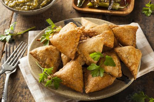 Fototapeta Homemade Fried Indian Samosas