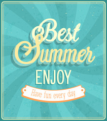 Best Summer Enjoy typographic design.