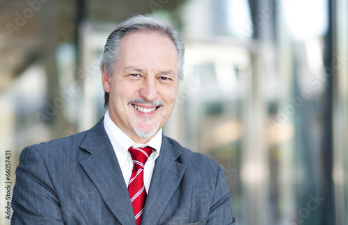 Mature businessman smiling