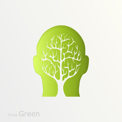 Brain tree illustration