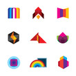 Colorful creativity inspiration design company vector logo icons