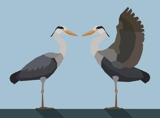 Heron - Flat design