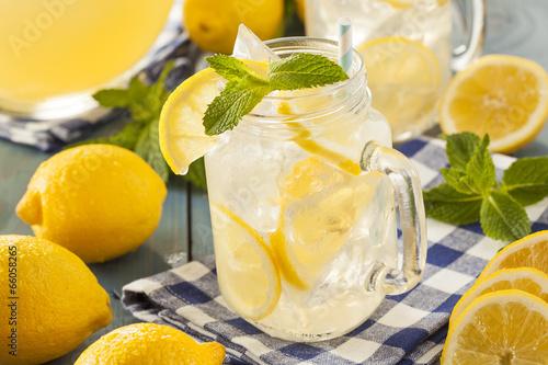 Plexiglas Spices Homemade Refreshing Yellow Lemonade