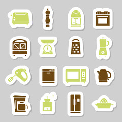 kitchen appliances and tools stickers