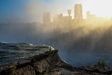 Niagara Falls Sunset Mist Skyline