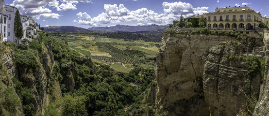 Ronda (Spain) landscape panoramic view.