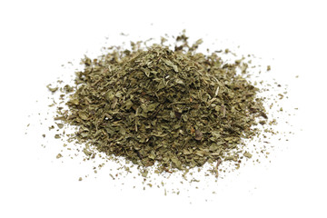 pile of dried mint