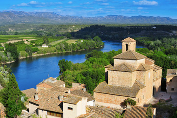 old town of Miravet, Spain, and Ebro River