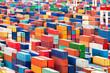 Leinwanddruck Bild - Containerhafen