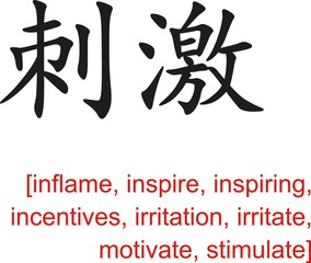 Chinese Sign for inflame, inspire, inspiring