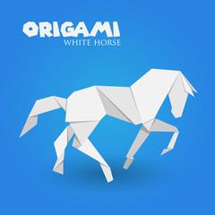 white horse origami