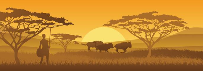 Masai und Gnus
