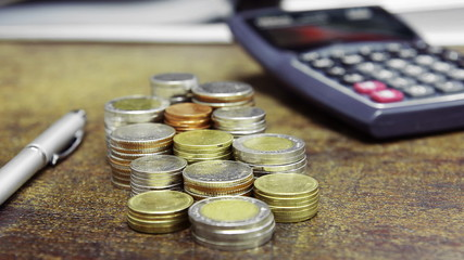 money coin, business finance concept