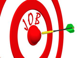Job. A dart at the target center