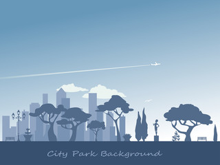 City park silhouette background