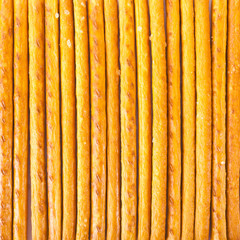 Salted sticks arranged vertically