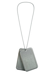 Blank Identity Dog Tags Hanging