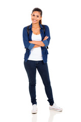 female college student with arms crossed