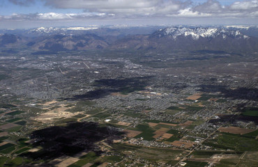 Salt Lake City from above