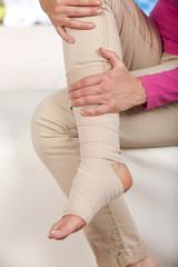 Verband bei Fußverletzung