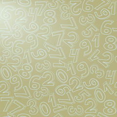 Pattern with numbers at light background