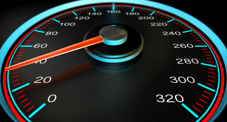 Speedometer Blue Fast Speed