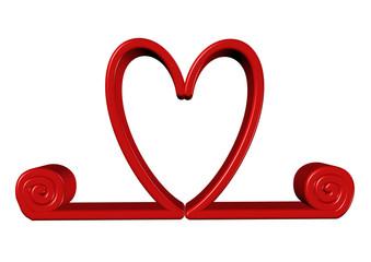 kırmızı kalp açılma