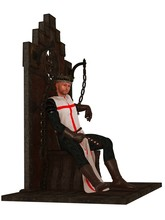 Templar king on throne