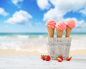 Strawberry Ice Creams