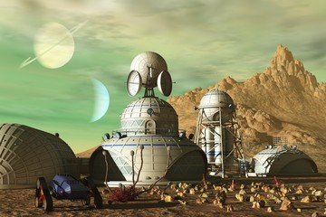 Science fiction outpost