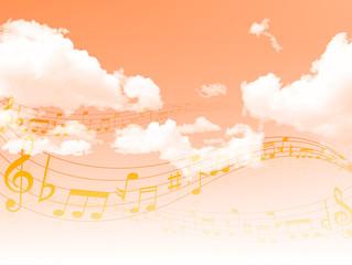 音符 楽譜 空