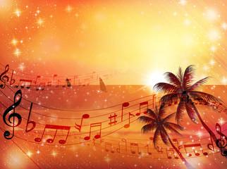 音符 楽譜 海