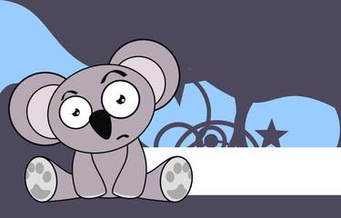 koala cartoon baby sit wallpaper