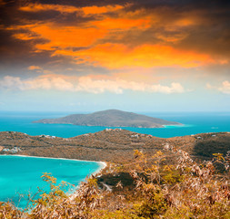 Caribbean scenario, aerial view