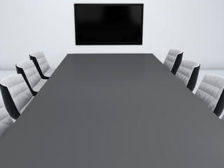 empty meeting room 3d illustration