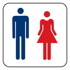 Male and female sign vector