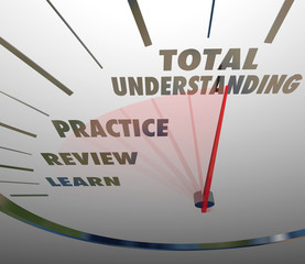 Total Understanding Speedometer Measure Learning Education