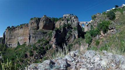 "Ronda (Spain) ""Puente Nuevo"" landscape Pan Timelapse"