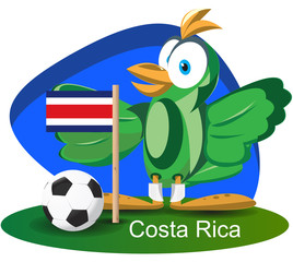 World cup mascot 2014 with Costarica team flag