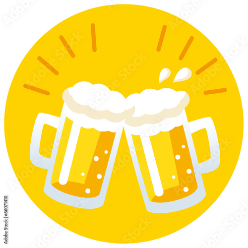 canvas print picture ビール 乾杯