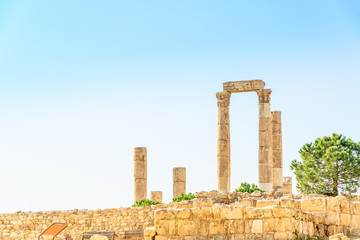 Temple of Hercules in Amman Citadel, Jordan