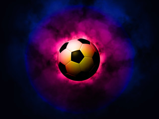 Soccer ball energetic background