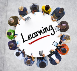 People and Learning Concept with Textured Effect