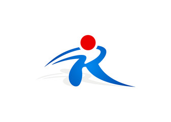 active people letter R logo