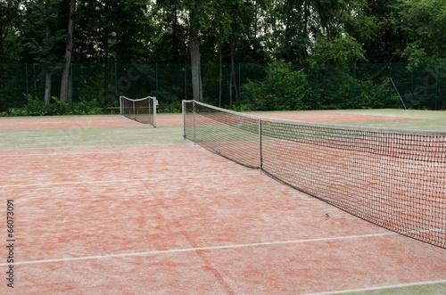 poster of tennis courts in recreation village park summer