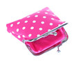 Pink purse isolated on white