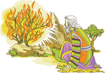 Revelación en la zarza ardiente a Moisés