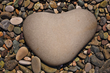 a heart-shaped stone