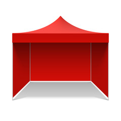 Red folding tent